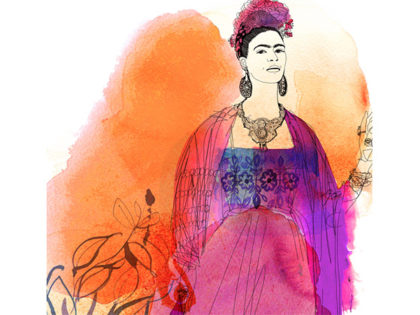 Fashion illustration watercolor