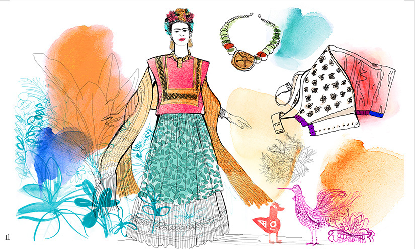 Watercolor illustratrion fashion, style, icon