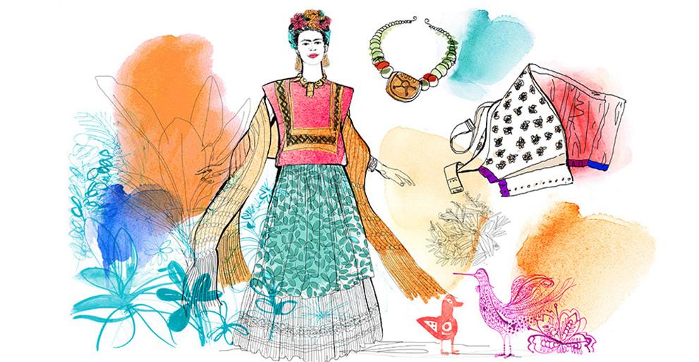 Watercolor illustration, fashion