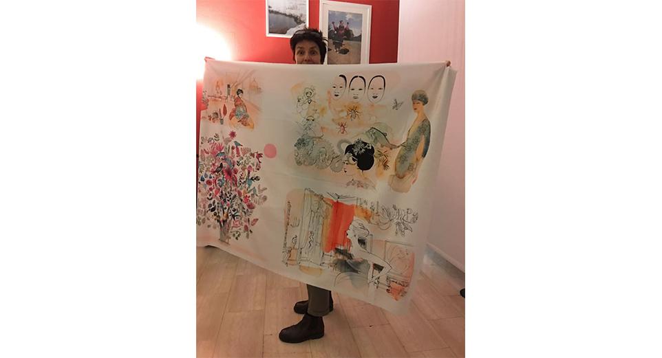 Watercolor fashion illustration, textile, illustrazione moda acquerello, tessile