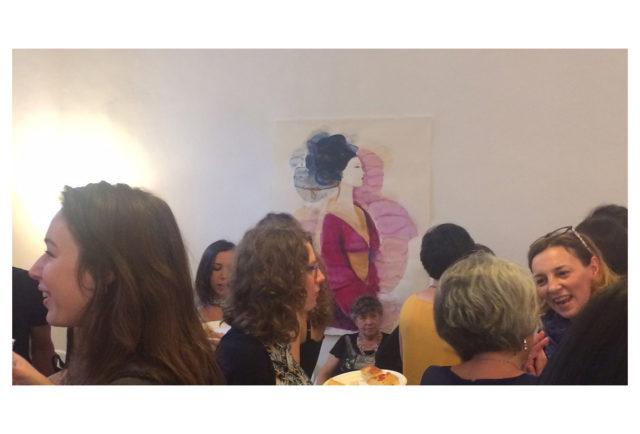 Watercolor illustration, 1,fashion, Alessandra Scandella, exhibition, t