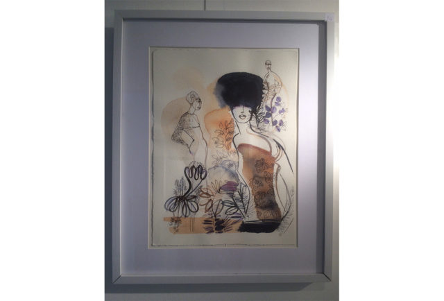 Watercolor illustration, l,fashion, Alessandra Scandella, exhibition, t