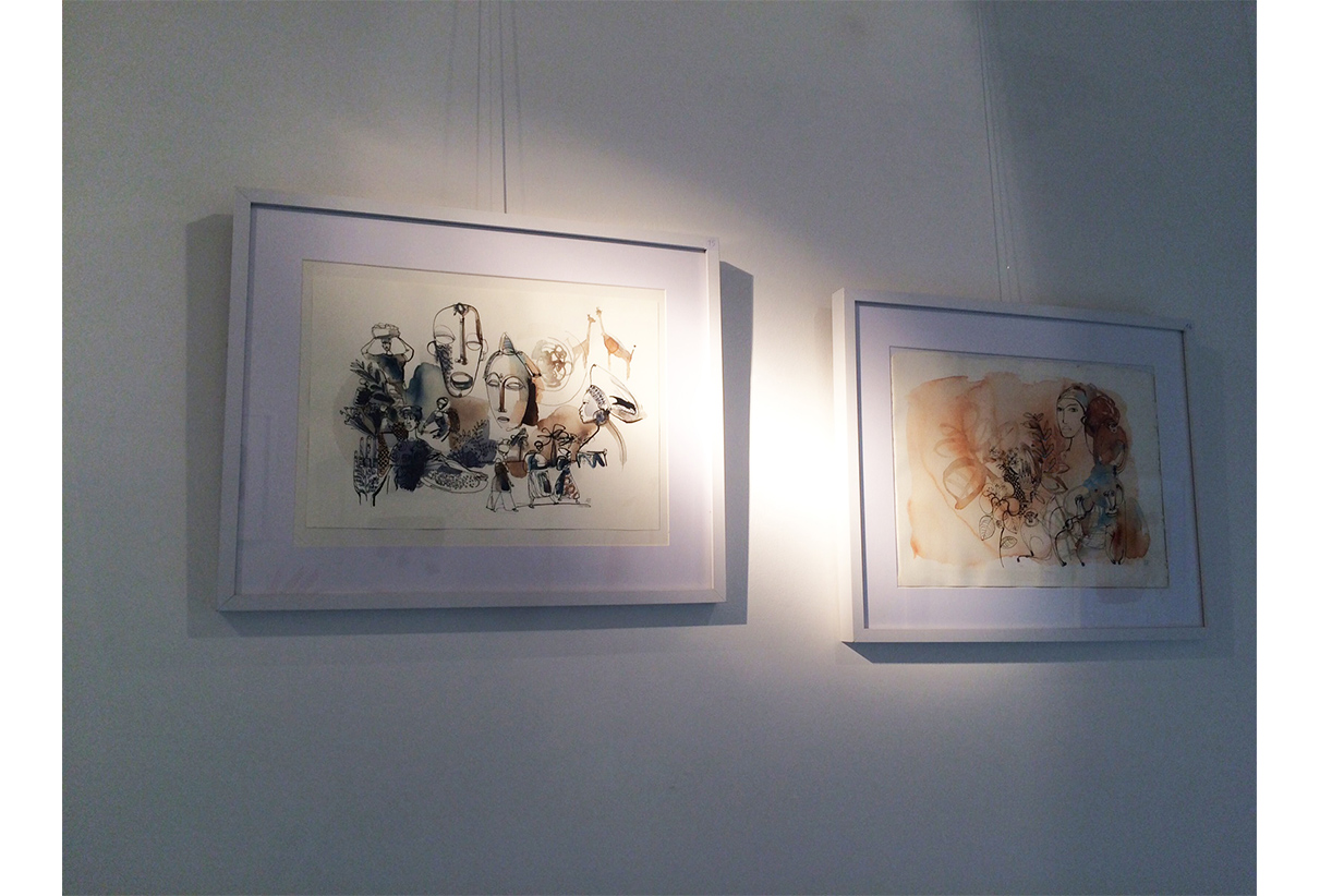 Watercolor illustration, fashion, exhibition in Torino