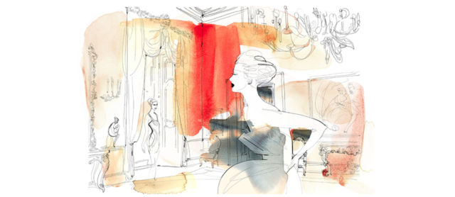 Watercolor fashion illustration, Alessandra Scandella