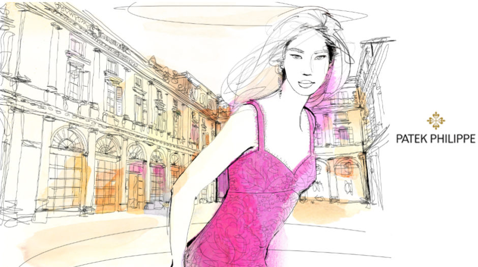 Watercolor-illustration-Palazzo italiano-interior, design-fashion-luxury-Alessandra-Scandella