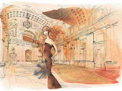 Watercolor fashion illustration, 1, Alessandra Scandella