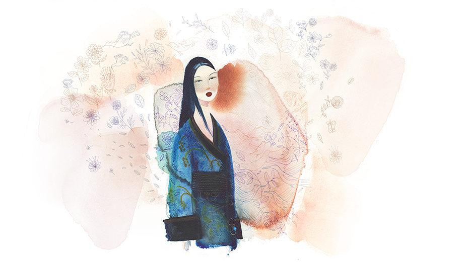 Watercolor fashion illustration, Japan, Alessandra Scandella