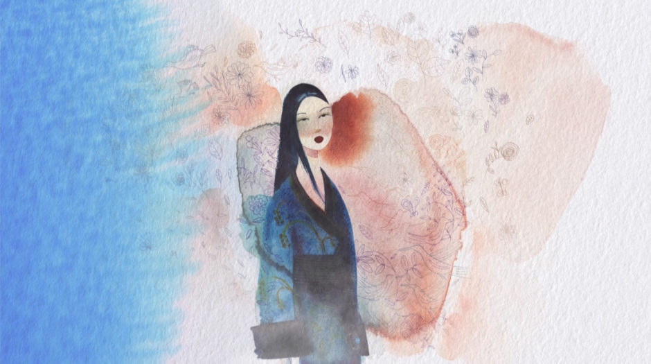 watercolor fashion illustration, animation, alessandra scandella