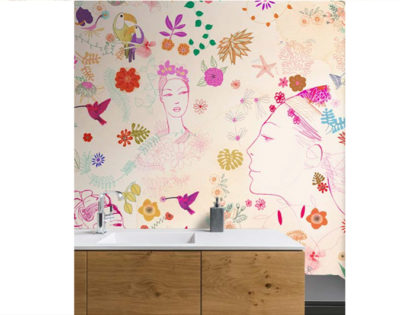 watercolor illustration, acquerello, decor, interior, wallpaper, fashion, flower, Alessandra Scandella