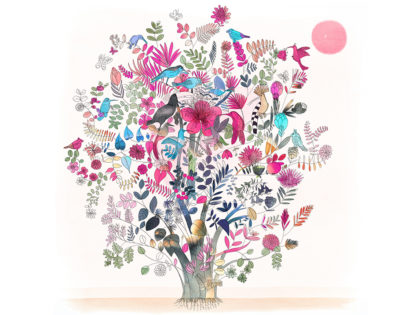 watercolor-illustration-tree,albero, nature, earth, Alessandra Scandella
