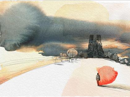 Loescher, Watercolor illustration, nature, landscape