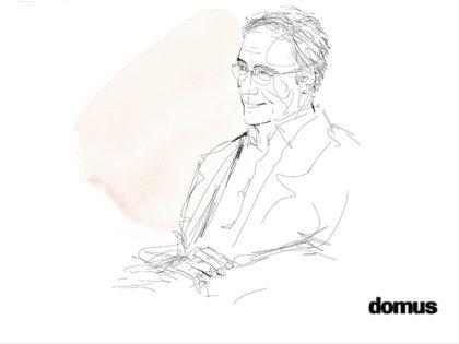 Watercolor and ink illustration, portrait, Domus, Alessandra Scandella