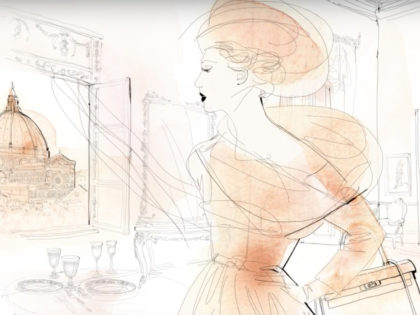 animazione moda acquerello, watercolor fashion animation. Alessandra Scandella