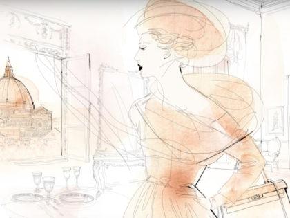 animazione moda acquerello, watercolor fashion animation. Alessandra Scandella