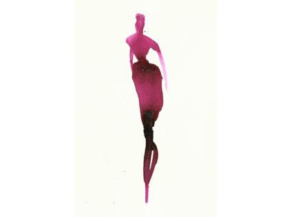 Illustrazione moda acquerello, watercolor fashion illustration,3.Alessandra Scandella