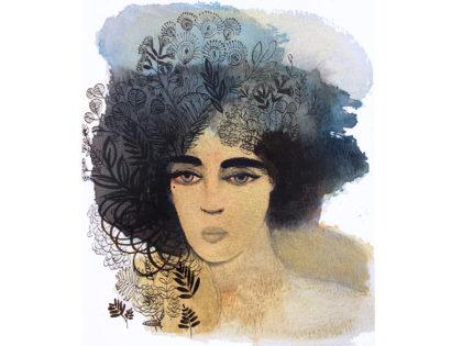 Watercolor fashion, 1,portrait, illustration, Alessandra Scandella