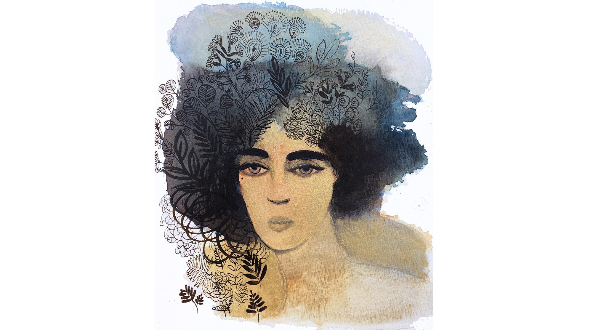 Watercolor fashion, concept, illustration
