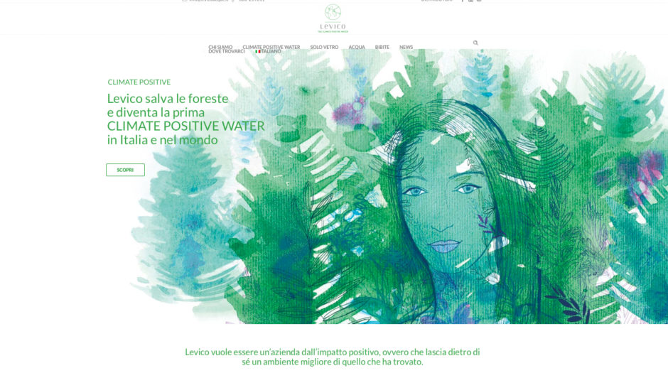 Watercolor illustration, water, forest, natura, Alessandra Scandella