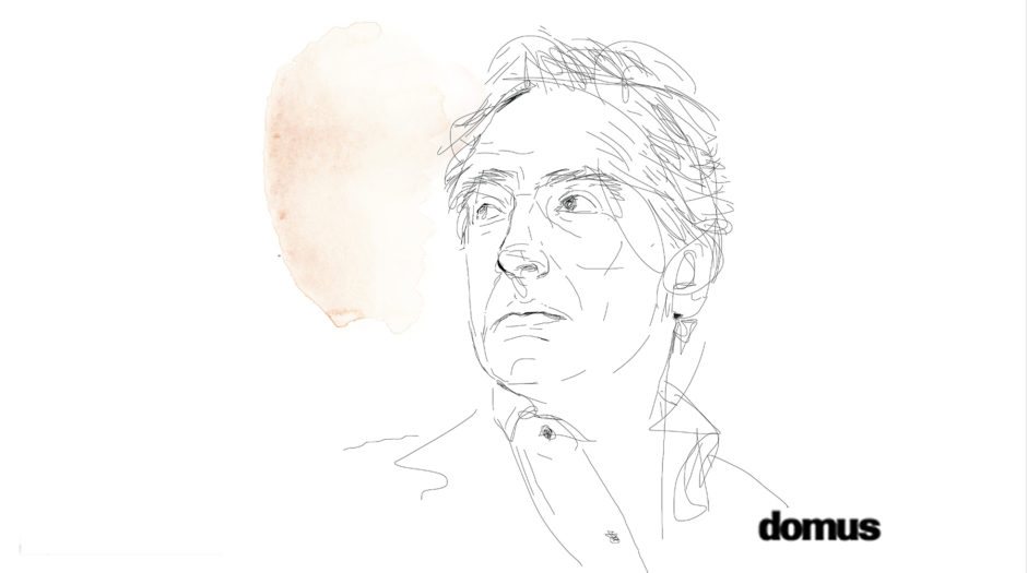 Portrait, Carlo Orsi, Illustration watercolor, Alessandra Scandella