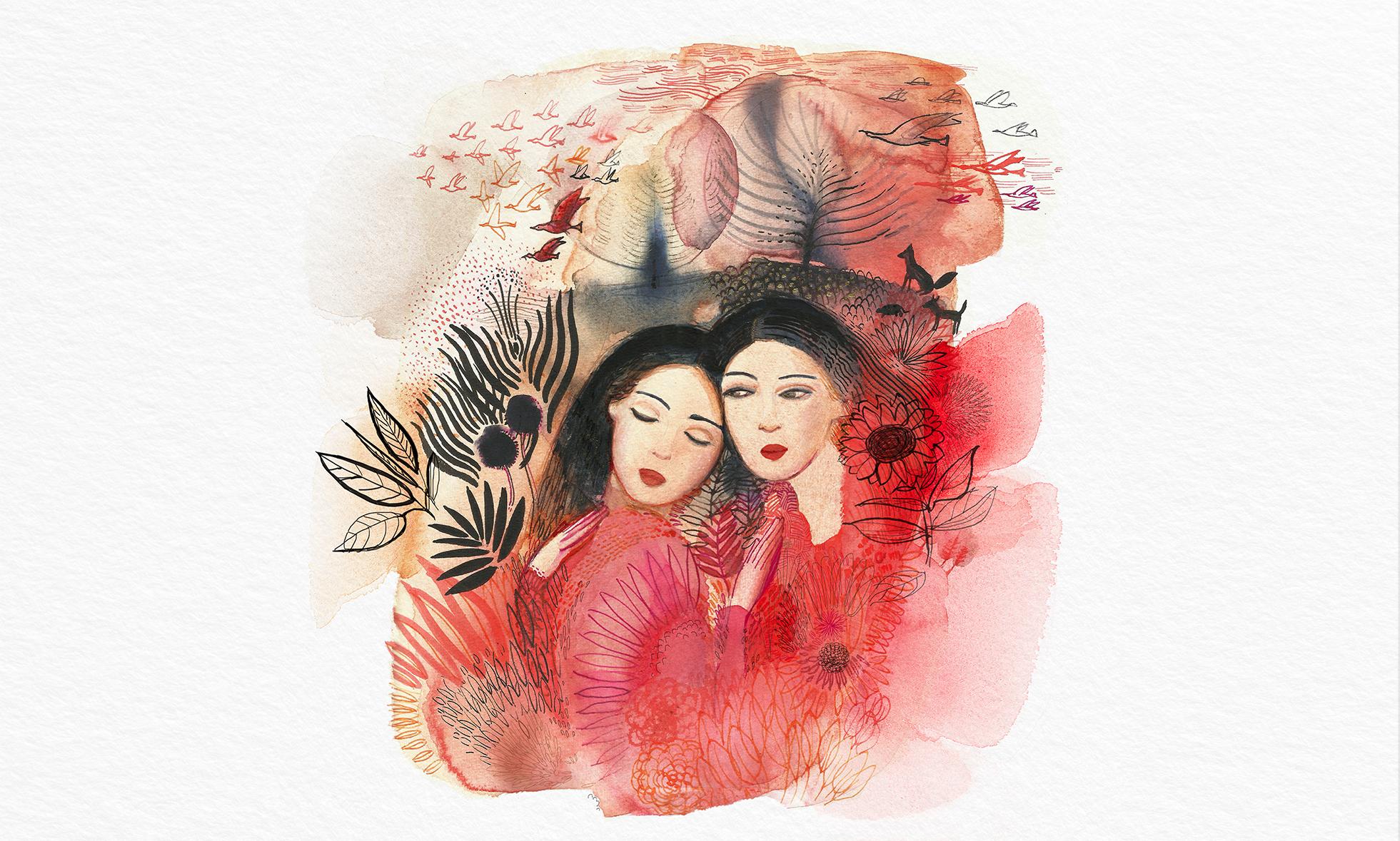 Abbracciami, Fandango club, illustrazione acquerello