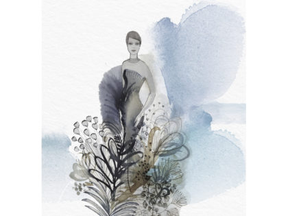 fashion watercolor illustration, Alessandra Scandella