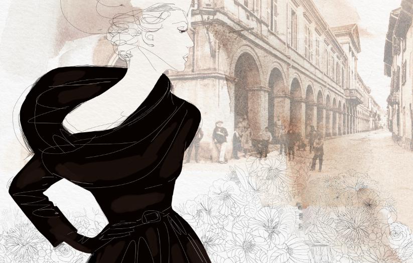 Watercolor ink fashion collage illustration, 2, Alessandra Scandella