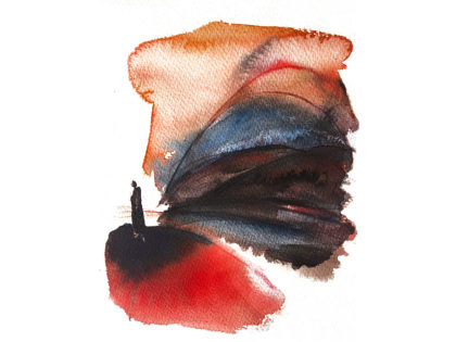 Watercolor fashion ink illustration, concept art, Alessandra Scandella