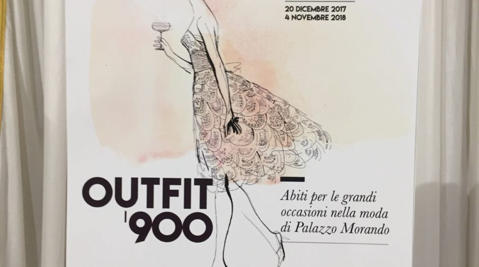 Palazzo Morando Outfit '900, watercolor fashion illustration, Alessandra Scandella