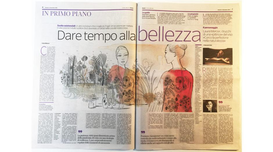 Watercolor beauty and fashion illustration, Alessandra Scandella