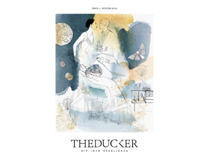 Watercolor fashion illustration, luxury, The Ducker, Alessandra Scandella