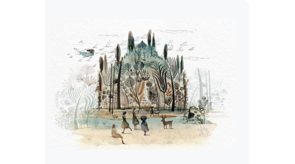 Watercolor ink Milano and nature, Alessandra Scandella