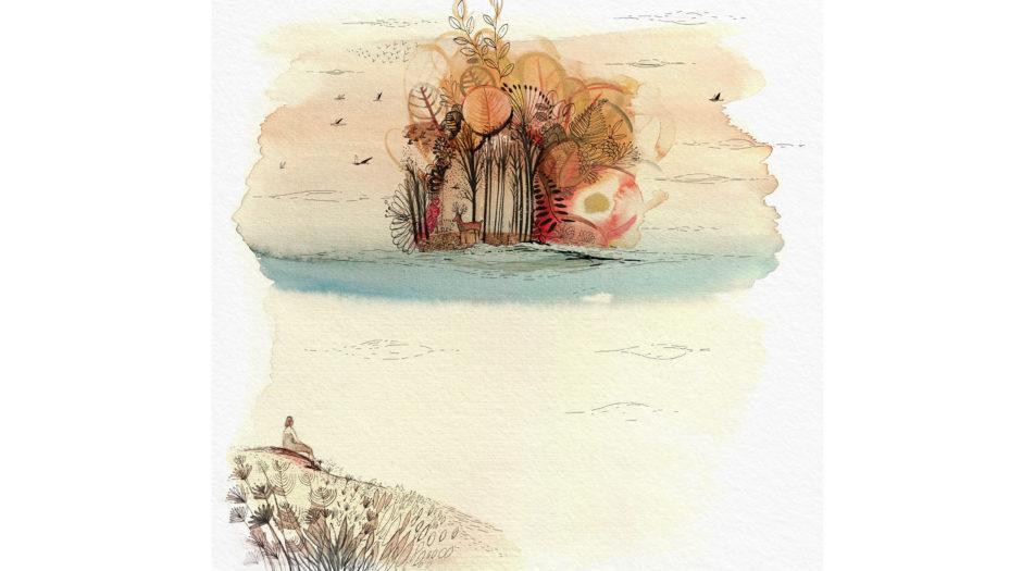Watercolor ink illustration, nature, Utopia, Tapirulan, conceptual artwork, Alessandra Scandella