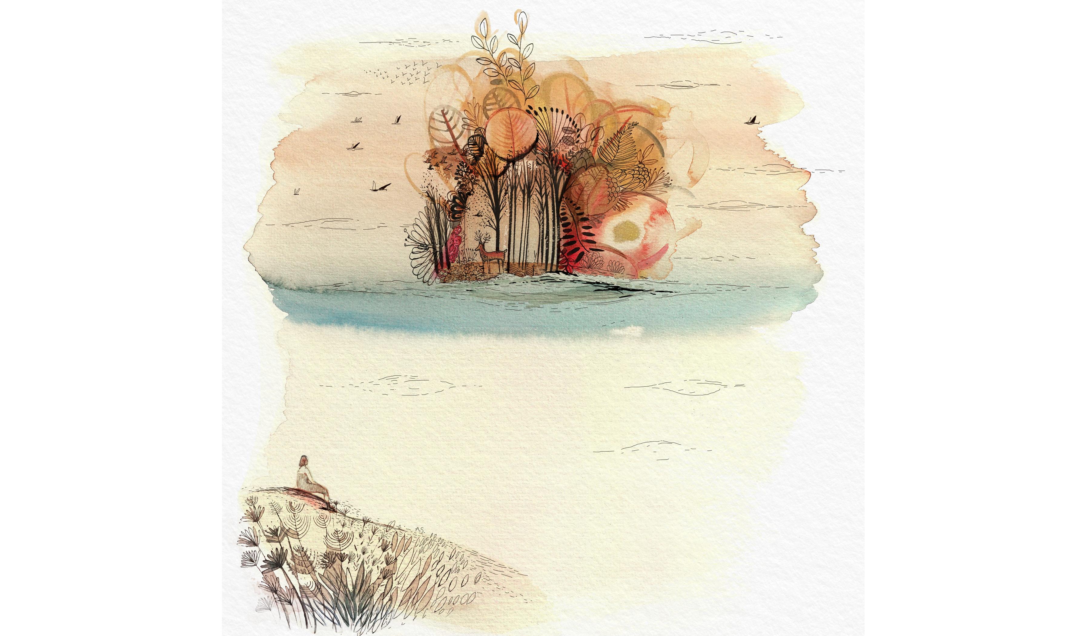 Utopia, Illustrazione, china e acquerello, conceptual illustration