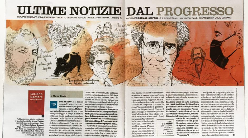Il Venerdi', watercolor illustration history,