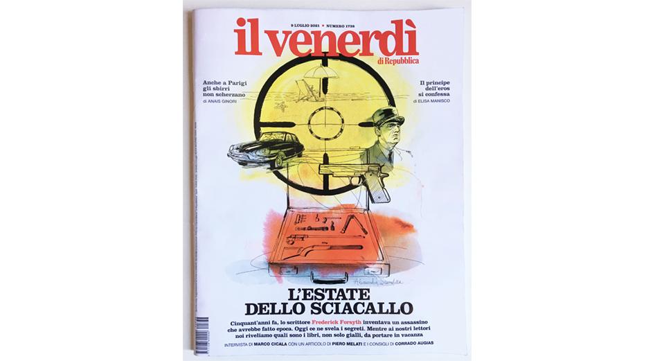 Cover illustratior Il Venerdi' La Repubblica, Alessandra Scandella