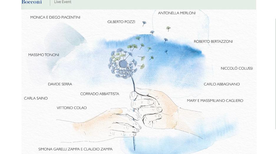 Watercolor illustration, Bocconi University, animation, Alessandra Scandella
