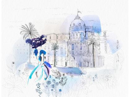 Watercolor illustration, Nice, France, city, fashion and design, wallpaper, city and decor, Alessandra Scandella