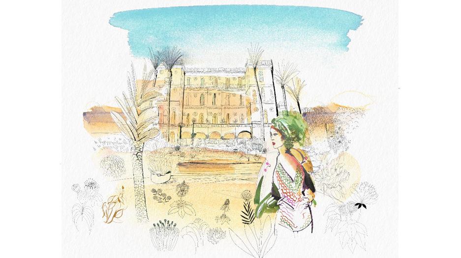 Watercolor illustration, Sicily, fashion and design, wallpaper, city and decor, Alessandra Scandella copy
