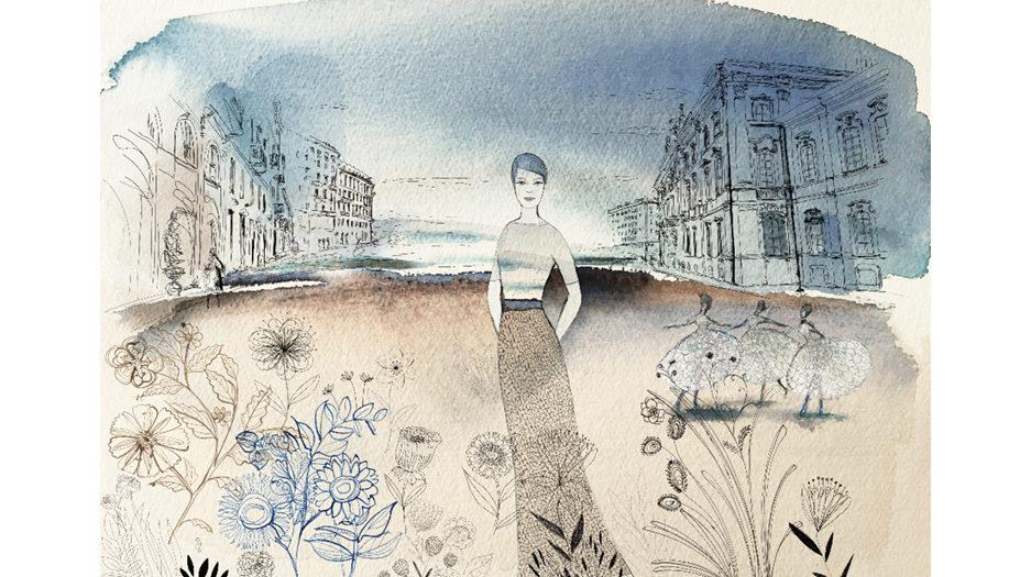 Watercolor illustration, fashion and design, wallpaper, fashion and flowers, Alessandra Scandella copy