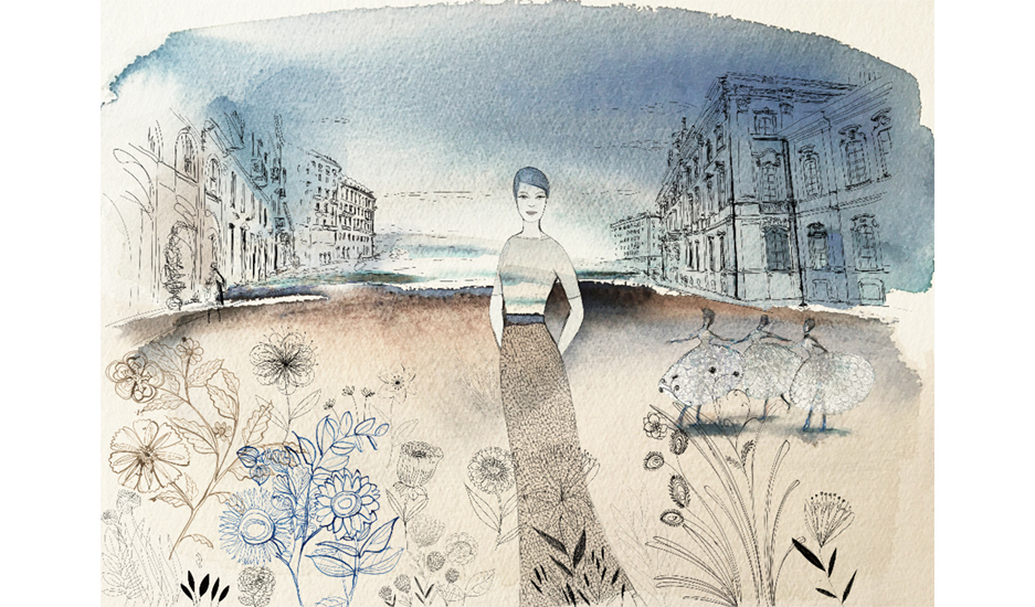 Watercolor illustration, fashion and design, wallpaper, fashion and flowersWatercolor illustration, fashion and design, wallpaper, fashion and flowers