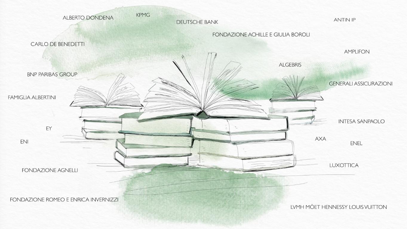 watercolor animation, Bocconi, Donor Event ,Alessandra Scandella