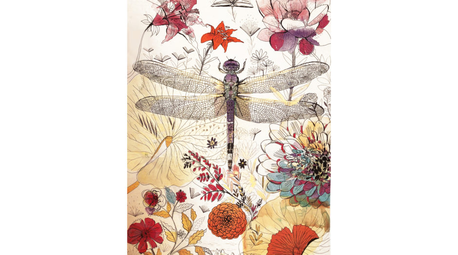Insects, watercolor illustration,1,nature and flower, Alessandra Scandella copia