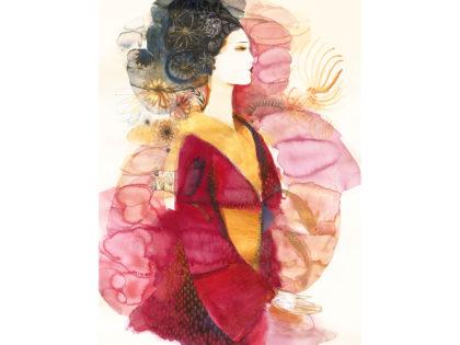 Watercolor illustration, fashion,1, Japan, Alessandra Scandella